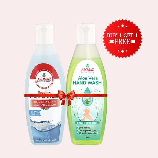 Aromaz Hand Sanitizer & Hand Wash Combo